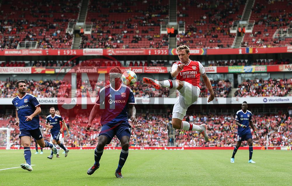 Nacho Monreal of Arsenal crosses the ball - Mandatory by-line: Arron Gent/JMP - 28/07/2019 - FOOTBALL - Emirates Stadium - London, England - Arsenal v Olympique Lyonnais - Emirates Cup