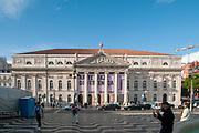 Teatro Nacional de Dona Maria II the National Theatre, Praca Dom Pedro IV, Lisbon, Portugal.