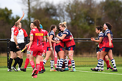 Bristol Bears Women celebrate Daisie Mayes' try against Harlequins Ladies - Mandatory by-line: Paul Knight/JMP - 01/12/2018 - RUGBY - Shaftesbury Park - Bristol, England - Bristol Bears Women v Harlequins Ladies - Tyrrells Premier 15s