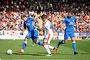 Peterborough United forward Jason Cummings (35) on the ball during the EFL Sky Bet League 1 match between Peterborough United and Luton Town at London Road, Peterborough, England on 18 August 2018.