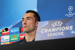 September 26, 2017 - Turin, Piedmont, Italy - Silvio Proto (Olympiacos FC) during the Olympiakos FC press conference on the eve of  the UEFA Champions League (Group D) match between Juventus FC and Olympiakos FC  at Allianz Stadium on 26 September, 2017 in Turin, Italy. (Credit Image: © Massimiliano Ferraro/NurPhoto via ZUMA Press)