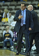 December 04 2010: Idaho State Bengals head coach Joe O'Brien argues a call during the second half of their NCAA basketball game at Carver-Hawkeye Arena in Iowa City, Iowa on December 4, 2010. Iowa won 70-53.