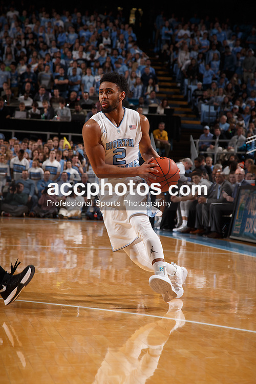 CHAPEL HILL, NC - JANUARY 20: Joel Berry II #2 of the North Carolina Tar Heels dribbles the ball against the Wake Forest Demon Deacons on January 20, 2016 at the Dean E. Smith Center in Chapel Hill, North Carolina. North Carolina won 68-83. (Photo by Peyton Williams/UNC/Getty Images) *** Local Caption *** Joel Berry II