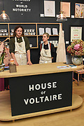 JAMES ST. FINDLAY, ELISE HARRISON, Evening preview of House of Voltaire.  A pop-up store selling artworks. homewares and limited edition prints. 31 Cork st. London W1S 3NU. 25 September 2019