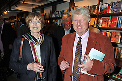 STANLEY & JENNY JOHNSON at a party to celebrate the publication of Sandra Howard's new book - Ex-Wives held at Daunt Books, 83 Marylebone High Street, London W1 on 30th April 2012.