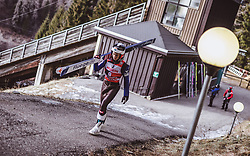 12.01.2019, Stadio del Salto, Predazzo, ITA, FIS Weltcup Skisprung, Val di Fiemme, Herren, 1. Wertungsdurchgang, im Bild Jan Hoerl (AUT) // Jan Hoerl of Austria before his 1st Competition Jump for the Four Hills Tournament of FIS Ski Jumping World Cup at the Stadio del Salto in Predazzo, Italy on 2019/01/12. EXPA Pictures © 2019, PhotoCredit: EXPA/ JFK