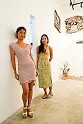 Bow Wasinondh (L.) & Fon Muangkow (R.) owners, BKK Arthouse, @ Studio Miu Thailand, Baan Baan exhibition
