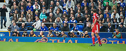 LIVERPOOL, ENGLAND - Sunday, October 17, 2010: Photographers cover the 214th Merseyside Derby match between Everton and Liverpool at Goodison Park. (Photo by Chris Brunskill/Propaganda)