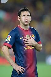 Lionel Messi of Barcelona.  Barcelona v Real Madrid, Supercopa first leg, Camp Nou, Barcelona, 23rd August 2012...Credit - Eoin Mundow/Cleva Media.