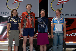 Jennifer Bodine / George Washington University, Megan Guardnier / Middlebury College, Devon Haskell / University of Chicago, Kendi Thomas / Whitman College<br /> <br /> The 2007 USA Cycling Collegiate Road Championship criterium was held in downtown Lawrence, Kansas on May 13, 2007.