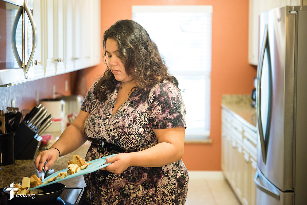Lillian makes lunch at Redeeming Life Maternity Home  on Thursday, Feb. 12, 2015, in Sanford, Fla. The Christ-centered home of Redeeming Life Outreach Ministries is a safe haven for single women in crisis pregnancy. LCMS Communications/Erik M. Lunsford