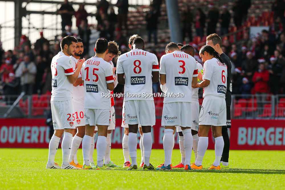 Groupe Brest - 20.12.2014 - Brest / Ajaccio - 18eme journee de Ligue 2 <br /> Photo : Vincent Michel / Icon Sport