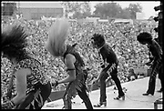 Twisted Sister on stage in Donnington, UK, 1980s.