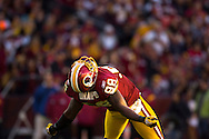 Brian Orakpo of the Washington Redskins celebrates after a sack.
