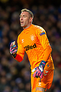 Allan McGregor (#1) of Rangers FC during the Group G Europa League match between Rangers FC and FC Porto at Ibrox Stadium, Glasgow, Scotland on 7 November 2019.