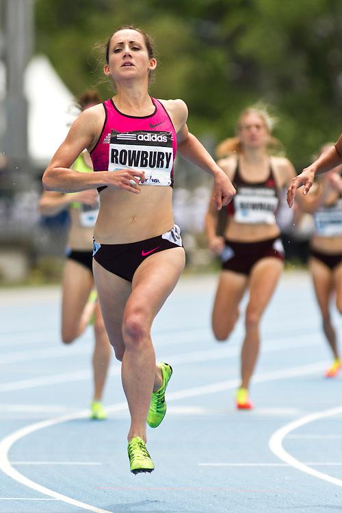 adidas Grand Prix Diamond League professional track & field meet: womens 1500 meters, Shannon Rwobury, USA