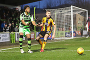 Forest Green Rovers Reuben Reid(26) and Cambridge United's Harry Darling(25) during the EFL Sky Bet League 2 match between Forest Green Rovers and Cambridge United at the New Lawn, Forest Green, United Kingdom on 20 January 2018. Photo by Shane Healey.