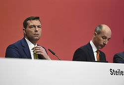 Germany, Bonn  -  April 13, 2018.Annual press conference of  Covestro AG  .Markus Steilemann and Thomas Toepfer (Credit Image: © Sepp Spiegel/Ropi via ZUMA Press)