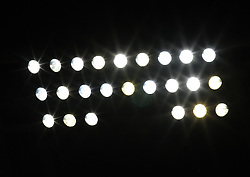 A detailed view of the floodlights in the stadium as Toulouse beat Paris Saint Germain 1-0 at Stade Municipal, Toulouse, France, 18th October 2009.
