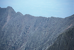 Mt. Katahdin, Baxter SP, ME. Appalachian Trail. The 'Knife's Edge' from the summit of  Katahdin.