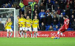 Cardiff City's Peter Whittingham takes a free kick - Photo mandatory by-line: Paul Knight/JMP - Mobile: 07966 386802 - 20/12/2014 - SPORT - Football - Cardiff - Cardiff City Stadium - Cardiff City v Brentford - Sky Bet Championship