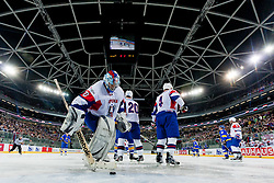 Robert Kristan of Slovenia during ice-hockey match between Slovenia and Ukraine at IIHF World Championship DIV. I Group A Slovenia 2012, on April 19, 2012 at SRC Stozice, Ljubljana, Slovenia. (Photo By Matic Klansek Velej / Sportida.com)