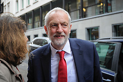 © Licensed to London News Pictures. 12/05/2017. London, UK. Jeremy Corbyn, leader of the Labour Party, arrives at Chatham House to give a speech on Labour's defence and foreign policy priorities.   Photo credit : Stephen Chung/LNP