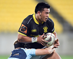 Wellington's Asafo Aumua against Northland in the Mitre 10 Semi Final Rugby match at Westpac Stadium, Wellington, New Zealand, Friday, October 20, 2017. Credit:SNPA / Ross Setford  **NO ARCHIVING**