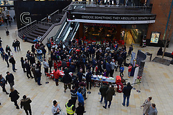 Bristol City fans arrive at Cabot Circus - Photo mandatory by-line: Dougie Allward/JMP - Mobile: 07966 386802 - 11/03/2015 - SPORT - Football - Bristol - Cabot Circus Shopping Centre - Johnstone's Paint Trophy