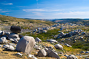 Serra da Estrela mountain range in the Natural Park. Sculptural effect of glacial erratics boulders, Portugal