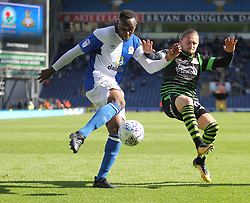 Ryan Nyambe of Blackburn Rovers (L) and Alfie May of Doncaster Rovers in action - Mandatory by-line: Jack Phillips/JMP - 12/08/2017 - FOOTBALL - Ewood Park - Blackburn, England - Blackburn Rovers v Doncaster Rovers - English Football League One