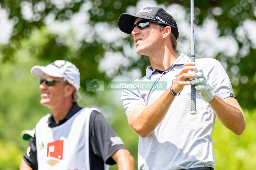 May 4, 2019 - Charlotte, NC, U.S. - CHARLOTTE, NC - MAY 04: Richy Werenski  watches his shot from the 4th hole tee box during the third round of the Wells Fargo Championship at Quail Hollow on May 4, 2019 in Charlotte, NC. (Photo by William Howard/Icon Sportswire) (Credit Image: © William Howard/Icon SMI via ZUMA Press)