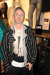 TERRY HART at the Lee store re-launch party held at 13-14 Carnaby Street, London on 31st March 2010.