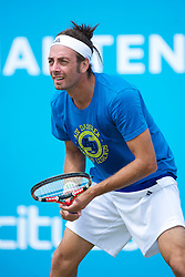 LIVERPOOL, ENGLAND - Thursday, June 17, 2010: Nicolas Massu (CHI) during the Men's Singles match on day two of the Liverpool International Tennis Tournament at Calderstones Park. (Pic by David Rawcliffe/Propaganda)