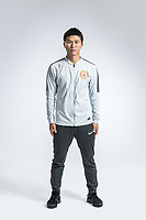 **EXCLUSIVE**Portrait of Chinese soccer player Zhu Baojie of Beijing Renhe F.C. for the 2018 Chinese Football Association Super League, in Shanghai, China, 24 February 2018.
