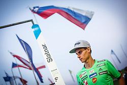 Rok Justin of Slovenia finishing second at Ski Jumping Continental Cup in Kranj, Slovenia Photo by Grega Valancic / Sportida