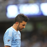 David Villa, NYCFC, in action during the New York City FC Vs New York Red Bulls, MSL regular season football match at Yankee Stadium, The Bronx, New York,  USA. 28th June 2015. Photo Tim Clayton