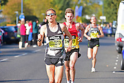 Jeffery Eggleston of the USA behind the leaders during The Great South Run in Southsea, Portsmouth, United Kingdom on 23 October 2016. Photo by Jon Bromley.