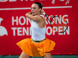 October 9, 2018 - Ana Bogdan of Romania in action during her first-round match at the 2018 Prudential Hong Kong Tennis Open WTA International tennis tournament (Credit Image: © AFP7 via ZUMA Wire)