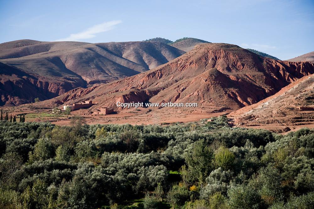 Tahanaoute a village of the Atlas  Atlas mountain  Morocco   ///  Tahanaoute village de l'atlas   Atlas   Maroc  /// MRC004