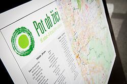 Map of running race  29 km Tek trojk et event Pot ob zici, on May 10, 2014, at Kongresni trg in Ljubljana, Slovenia. Photo by Vid Ponikvar / Sportida