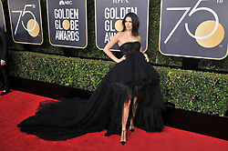 Kendall Jenner  at the 75th Golden Globe Awards held at the Beverly Hilton in Beverly Hills, CA on January 7, 2018.<br />