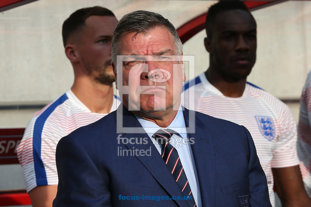 England manager, Sam Allardyce, has left his post following a meeting of the FA management after a newspaper investigation into alleged inappropriate advice about player transfers.<br /> Gareth Southgate will act as caretaker.<br /> Picture by Focus Images/Focus Images Ltd 07814 482222<br /> 27/09/2016<br /> <br /> File image for live news<br /> <br /> Original caption:<br /> <br /> England Manager Sam Allardyce before the 2018 FIFA World Cup Qualifying match at Stadion Antona Malatinskeho, Trnava<br /> Picture by Paul Chesterton/Focus Images Ltd +44 7904 640267<br /> 03/09/2016