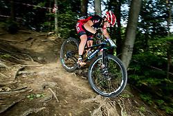Tanja Zakelj during Cross Country XC Mountain bike race for Slovenian National Championship in Kamnik, on July 12, 2015 in Kamnik,  Slovenia. Photo by Vid Ponikvar / Sportida