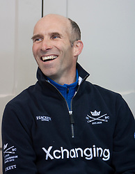 © Licensed to London News Pictures. 05/04/2012. London, U.K.The Sean Bowden, the Oxford crew coach at the Xchanging Oxford & Cambridge University Boat Race - press conference. The crews meet the press to discuss the boat race on saturday 7th April...Photo credit : Rich Bowen/LNP