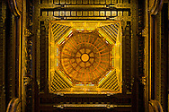 Egypt . Cairo : ceiling of THE GHURIYA, Al Ghuri mosque and khanqa complex after restauration .Islamic Cairo  The Funerary Complex of al-Ghuri, Madrasa, Mosque, Khanqah, Mausoleum and Sabil-Kuttab NM 189 , 65 66 67<br /> +