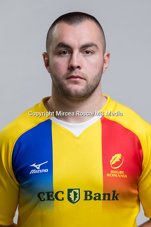 CLUJ-NAPOCA, ROMANIA, FEBRUARY 27: Romania's national rugby player Constantin Pristavita pose for a headshot, on February 27, 2018 in Cluj-Napoca, Romania. (Photo by Mircea Rosca/Getty Images)