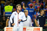 Leon Smith, team captain of Great Britain looks on during the 2016 Davis Cup Semi Final between Great Britain and Argentina at the Emirates Arena, Glasgow, United Kingdom on 17 September 2016. Photo by Craig Doyle.
