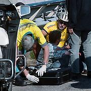 Ongeval fietser brug over A27 Blaricum