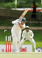 BLOEMFONTEIN, South Africa, Graeme Smith is bowled by Mahbubul for 157 during day 2 of the 1st Castle test between South Africa and Bangladesh at The Outsurance Oval in Bloemfontein on the 20 November 2008.Photo by: SPORTZPICS.net/SMP Images